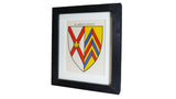1920s Framed Oxford College Crests - Merton