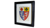 1920s Framed Oxford College Crests - Pembroke