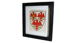 1920s Framed Oxford College Crests - Queens