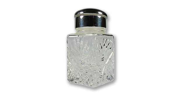 Starburst Cut Crystal Inkwell