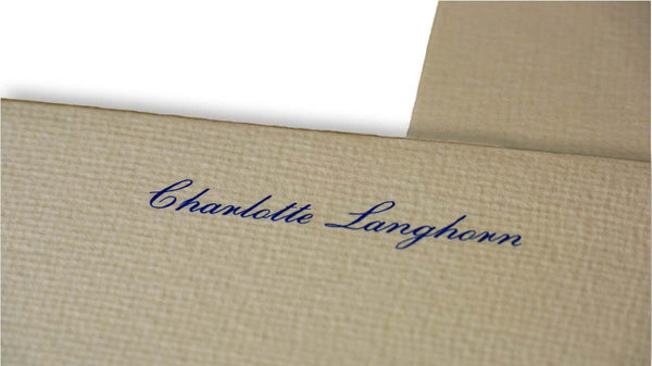 Personalised Handmade Correspondence Cards & Envelopes