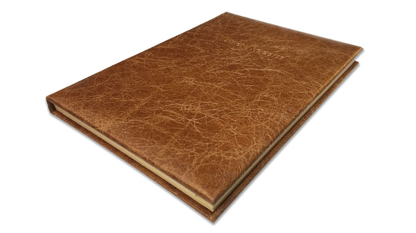 Hide Leather Wine Record Book
