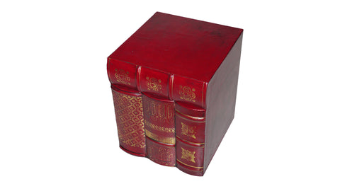 Red Leather Book Box