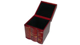 Red Leather Book Box - open
