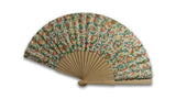 Marbled paper fan - Florentine pattern