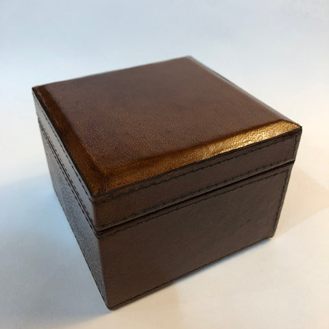 Square Leather Box