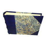 Italian Marbled Photo Album - Blue, Small, Landscape