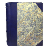 Italian Marbled Photo Album - Blue, Large, Portrait