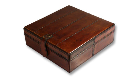 Stitched Leather Jewellery Box - Small
