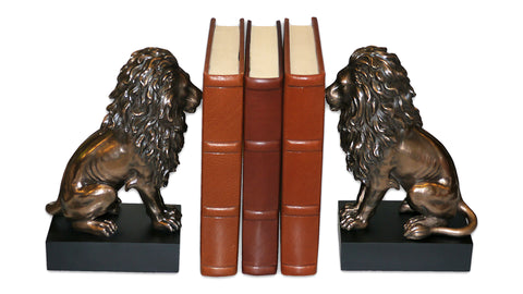 Sitting Lion Bookends
