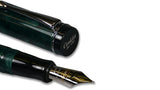 Conklin Duragraph Fountain Pen - Forest Green close up