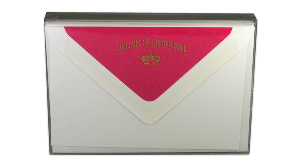 Simple correspondence cards - pink envelope lining