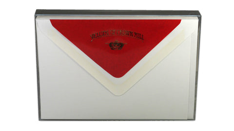 Simple correspondence cards - red envelope lining