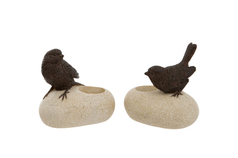 Bird on Stone Ornament
