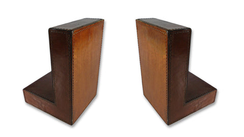 Leather Bookends