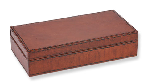 Rectangular Leather Cufflink Box