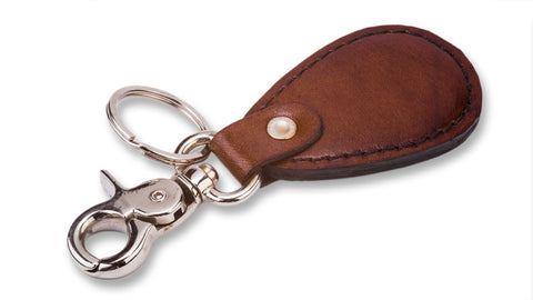 Leather Key Ring Teardrop