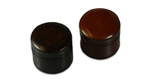 Small Round Leather Box