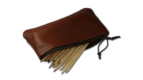 Artist's Leather Pencil Case