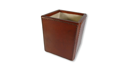 Leather Pen Pot - Tan
