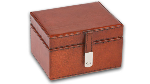 Leather Box with Silver Clasp