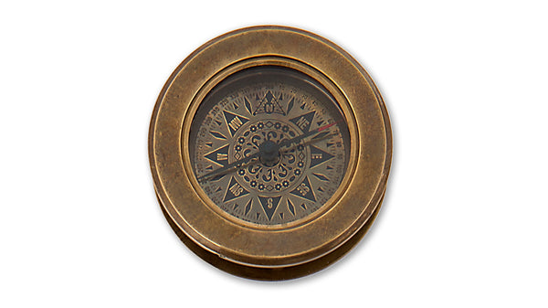 Compass with magnifier - closed