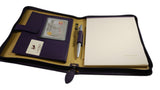 French Leather Writing Case - holds A4 pad