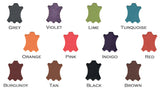 Available leather colours