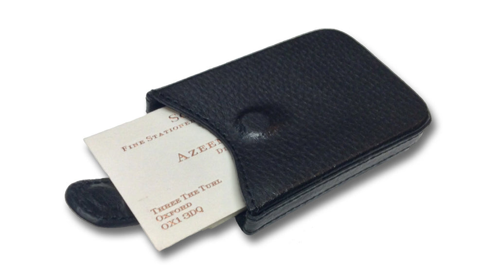 Leather business card case scriptum fine stationery scriptum leather business card case reheart Choice Image