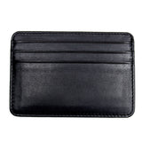Leather Credit Card Holder - 7 Slots - Black