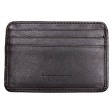 Leather Credit Card Holder - 7 Slots - Brown