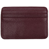 Leather Credit Card Holder - 7 Slots - Burgundy