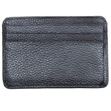Leather Credit Card Holder - 7 Slots - Gunmetal