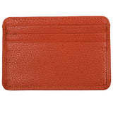Leather Credit Card Holder - 7 Slots - Orange