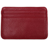 Leather Credit Card Holder - 7 Slots - Red