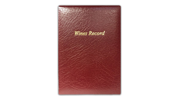 Leather Wine Record Book - Red