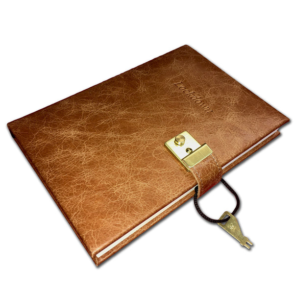 Hide Leather Lockdown Journal