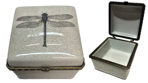Ceramic Trinket Box - Dragonfly