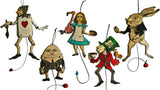 Alice in Wonderland Jumping Jacks - Full Set