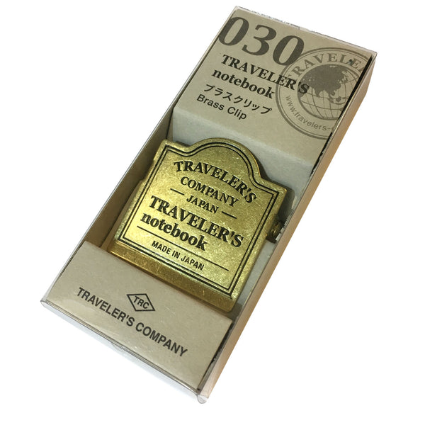Brass Notebook Clip - Traveler's Company Logo, Boxed