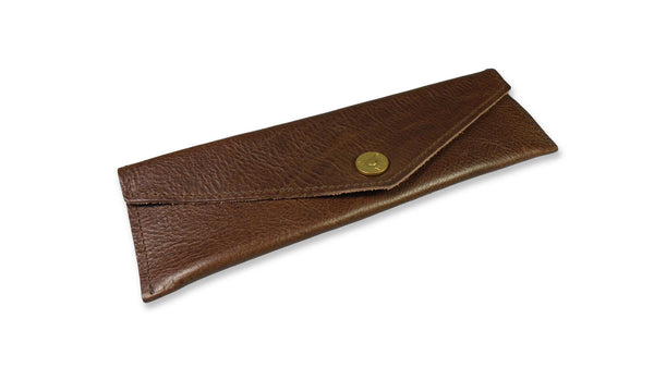 Slim Swedish Pencil Case - Dark Brown