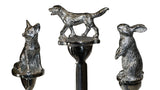 Animal Letter Opener - close up of Fox, Dog, and Hare