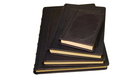 Italian Leather Journal with Embossed Window