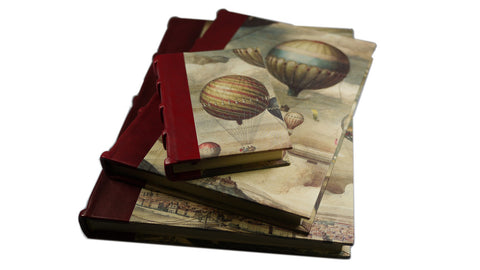 Hot Air Balloon Journal By Bomo Art