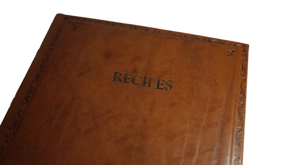 Italian Leather Recipe Book from Scriptum