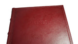 Italian leather wine journal from Scriptum