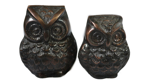 Cast Iron Owl Paperweight