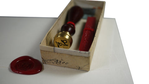 Double Initial Wax Seal from Scriptum Oxford