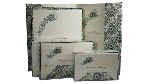 italian writing paper Made in florence, these beautiful peacock feather writing paper and card sets are presented with fully-lined envelopes - a5 paper boxed (10 sheets, 10 envelope.