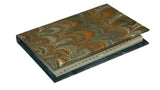 Pocket Marbled Paper Address Book - green